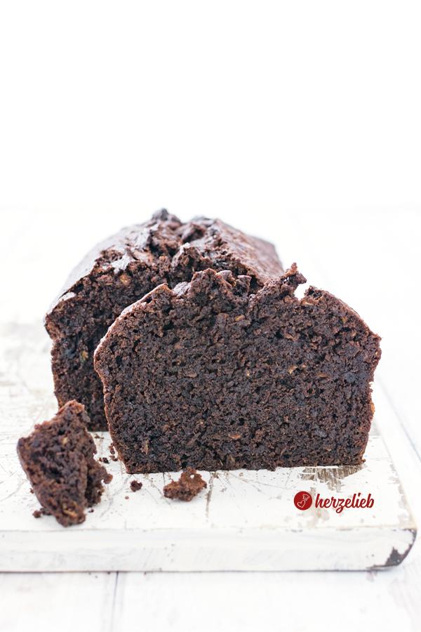 Schokoladen Zucchinkuchen Rezept Brownie Style von herzelieb