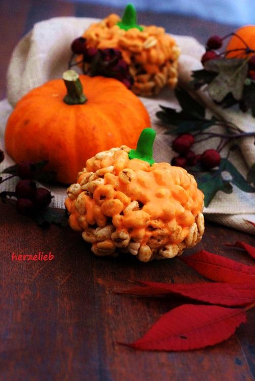 Marshmallow-Honigsmacks-Kürbisse von herzelieb