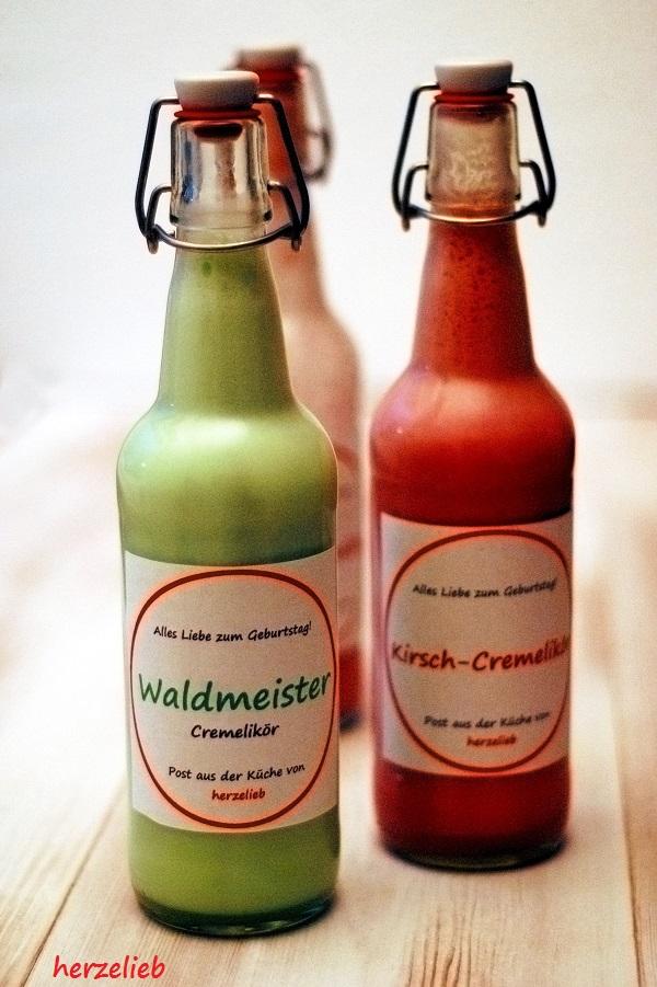 Waldmeisterlikör und Kirschlikör Rezept von herzelieb