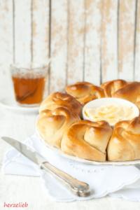Rezept für einen Honig-Brotkranz