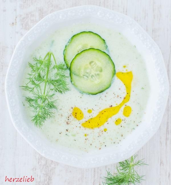 Gurkensuppe Rezept – mit Joghurt und Dill