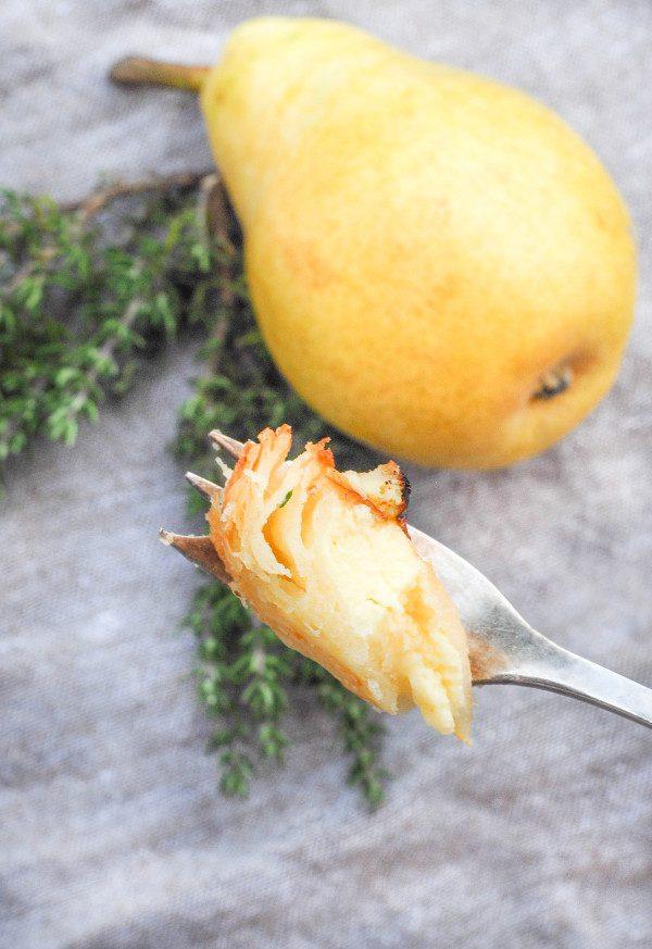 Skyr Birnentarte - eine einfaches und schnelles Rezept, um mit Skyr zu backen
