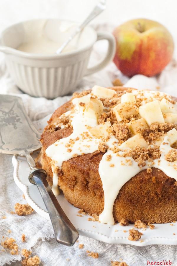 Dieses Apfelstreuselkuchen Rezept kann man ganz leicht nachbacken