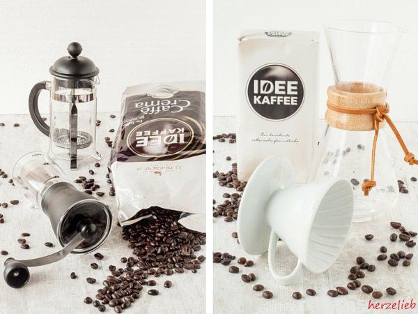 Kaffee handgebrüht herzelieb