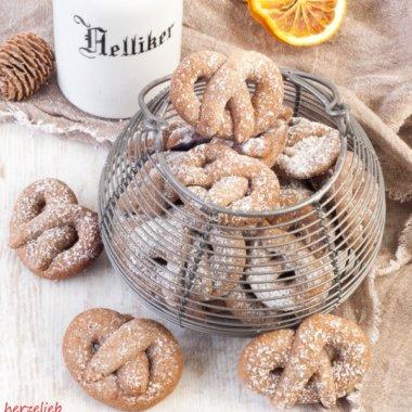 Gewürz-Orangen-Brezelchen sind eimmal ganz andere Weihnachtskekse