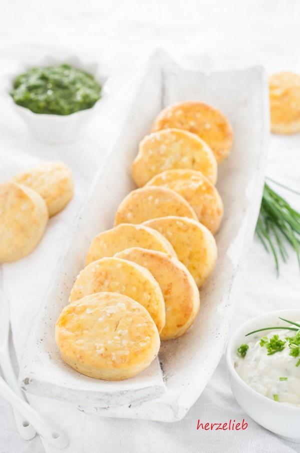 Kartoffelscones mit Dip