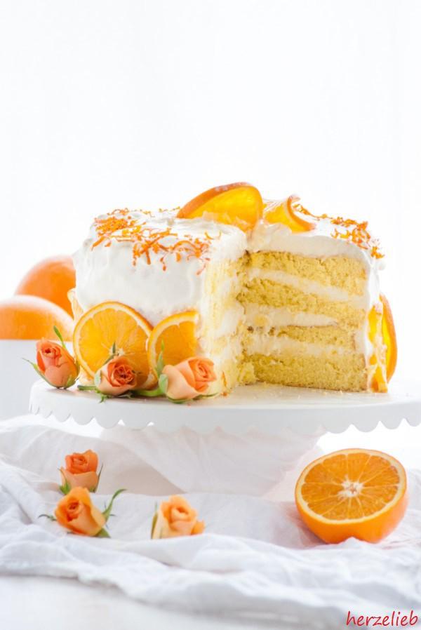 Orangentorte - mit diesem Rezept wirds fruchtig und frisch!