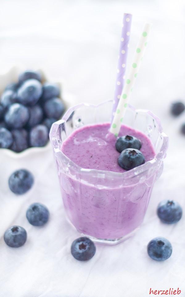 Blaubeermuffin-Smoothie - ein Rezept