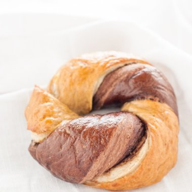Nutella Bagels - marmoriertes Bagel-Glück