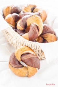Nutella Bagels - nach diesem Rezept ganz leicht zu backen