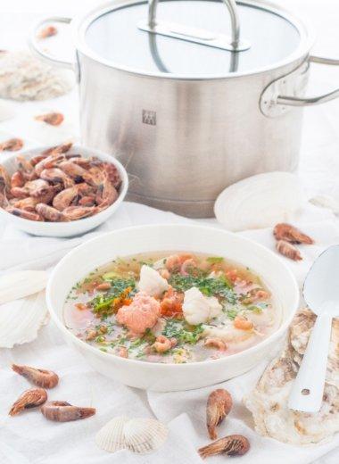 Husumer Fischsuppe - frisch auf den Tisch