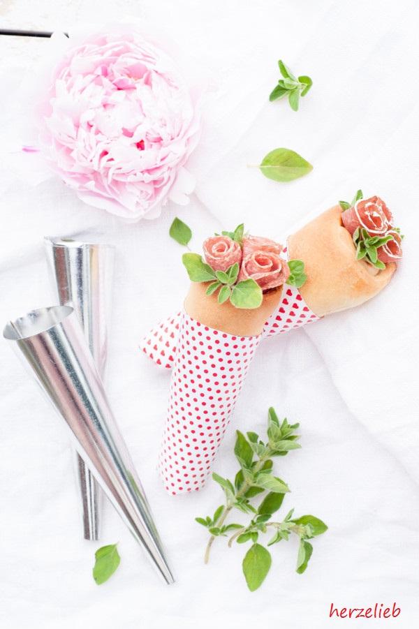 Pizza Tüten - Fingerfood als Blumenbouqet