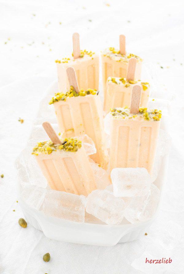 Herrliches Meloneneis mit Honig und Pistzazien - so schön kann der Sommer sein!