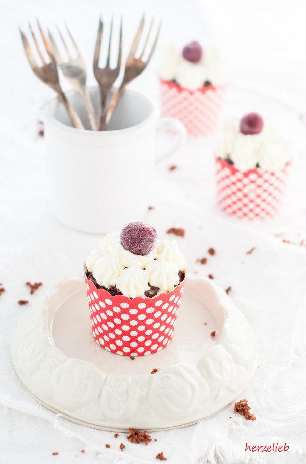 Schwarzwälder Kirsch Cupcakes statt großer Torte