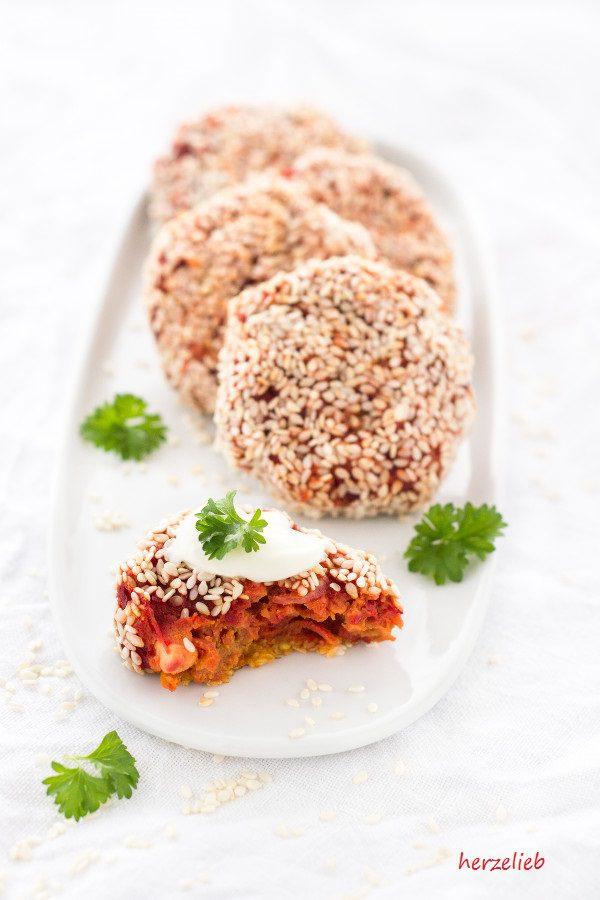 Diese Rote Bete Nuggets schmecken nach Orient. Ganz einfach zuzubereiten - versprochen!