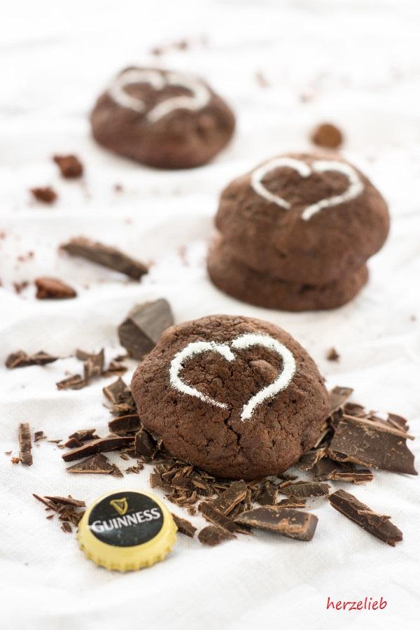 Guinness Kekse - Rezept mit ganz viel Schokolade (Werbung ohne Auftrag)