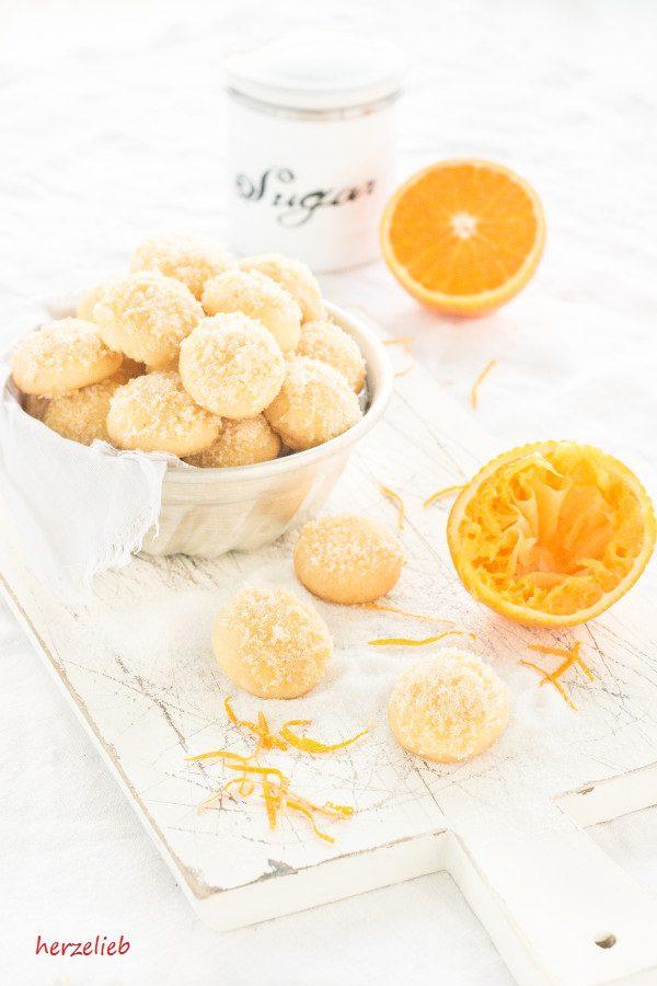 Orangen Kekse Rezept // Orange Cookies Recipe // Leckere Kekse mit einem Hauch Orange