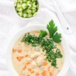 Creamy Chicken Soup Recipe // Cremige Hühnersuppe Rezept - an kalten Tagen wunderbar zum Aufwärmen