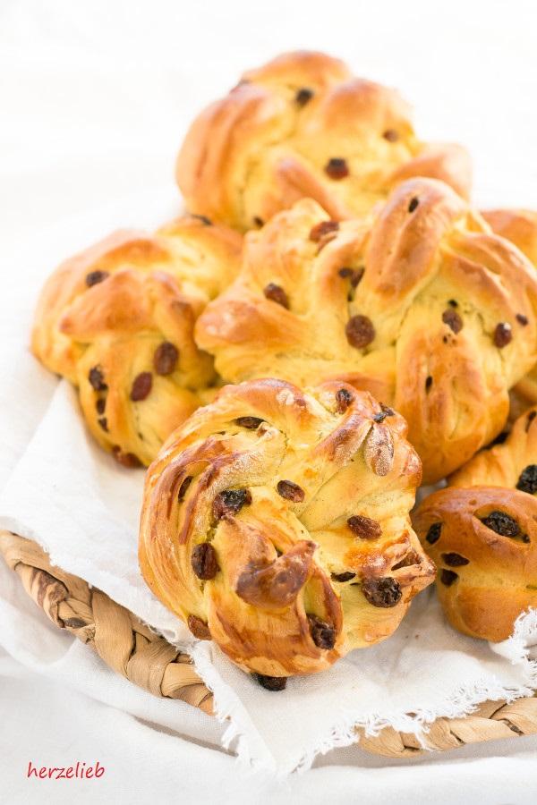 Rezept für Safranboller - Brötchen zum Frühstück