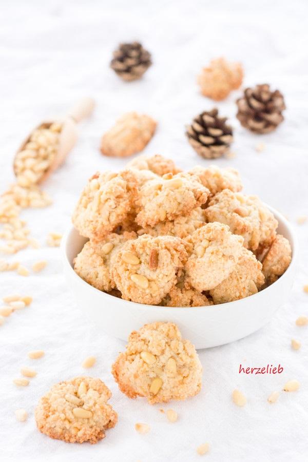 Pine Nuts Cookie recipe // Pinienkekse Rezept // Pinienküsse