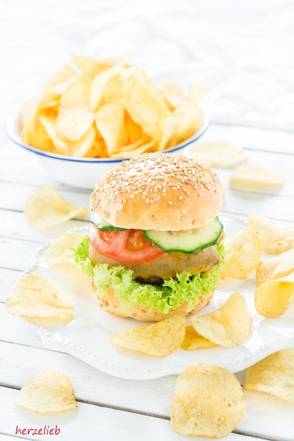 Wintergrillen Burger Buns - Rezept von herzelieb