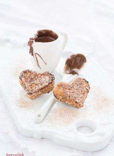 Supertolles Frühstück - Rezept für French Toast Herzen