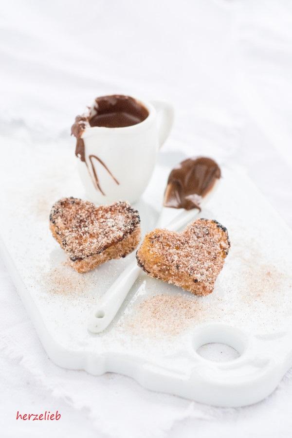Frühstück mit Liebe - French Toast Herzen