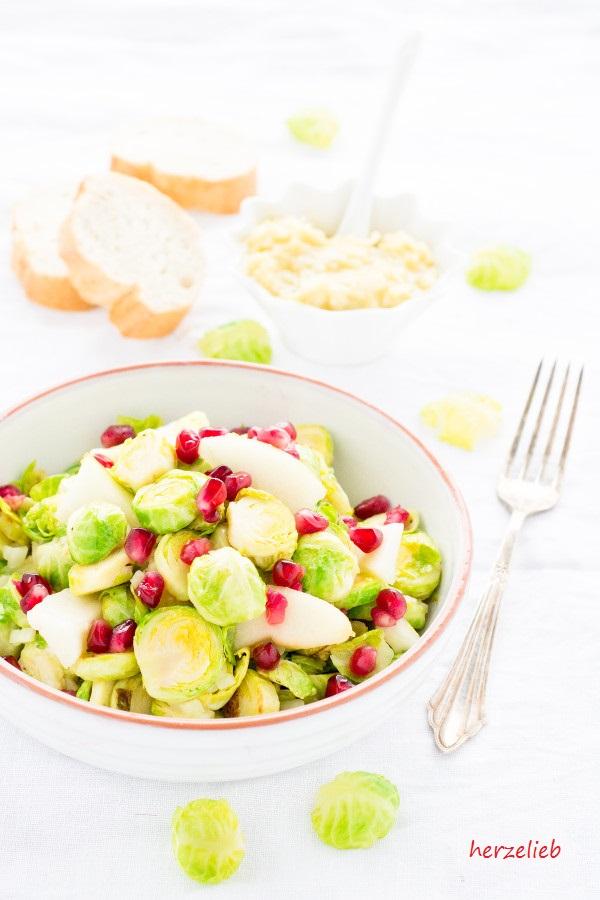 Rezept von herzelieb! Rosenkoh-Birnen-Salat - so lecker und so gut!