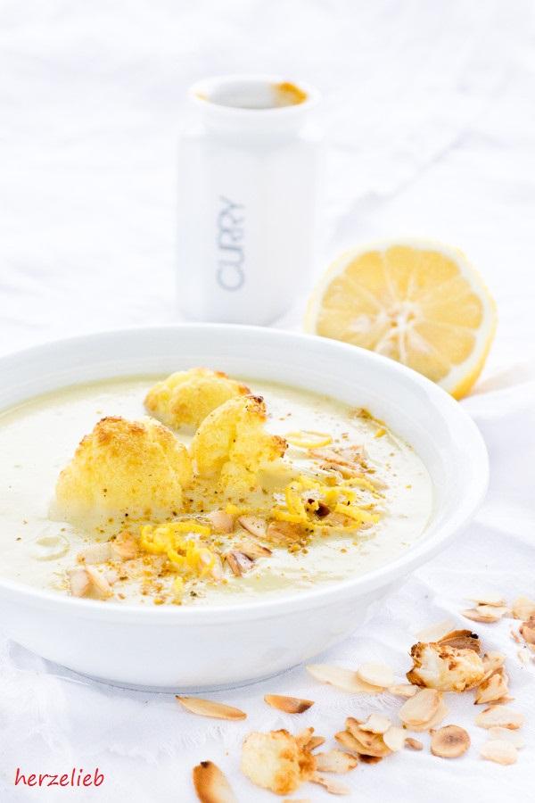 Blumenkohlsuppe mal anders - Rezept mit Curry und Joghurt