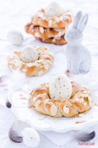 Rezept für leckere Osterkränze ohne Hefe von herzelieb