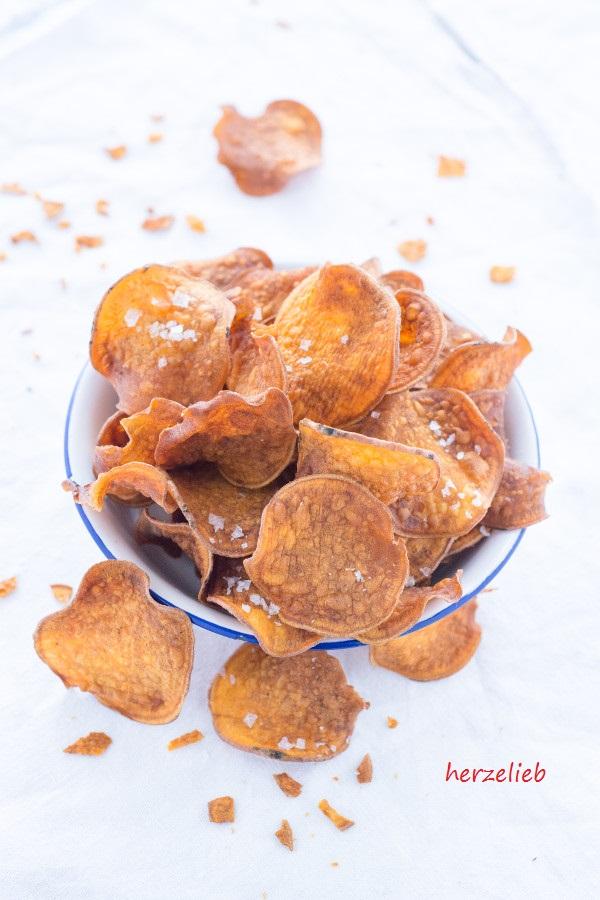 Leckere Süßkartoffel Chips - selber machen ist günstiger als kaufen!
