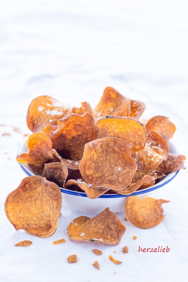 Rezept von herzelieb - selbstgemachte Süßkartoffel Chips