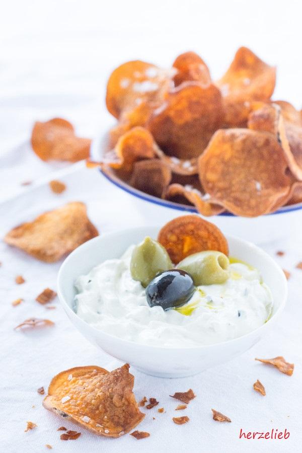 Selbtgemachte Süßkartoffel Chips - günstiger als gekaufte