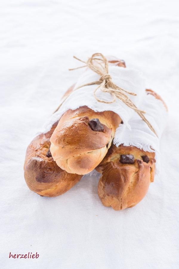 Schokoladen-Brioche Brötchen - Frühstücksrezept