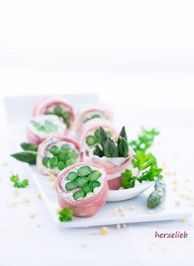 Für Spargel Liebhaber - das Schinken Spargel Sushi ist ein Hit!