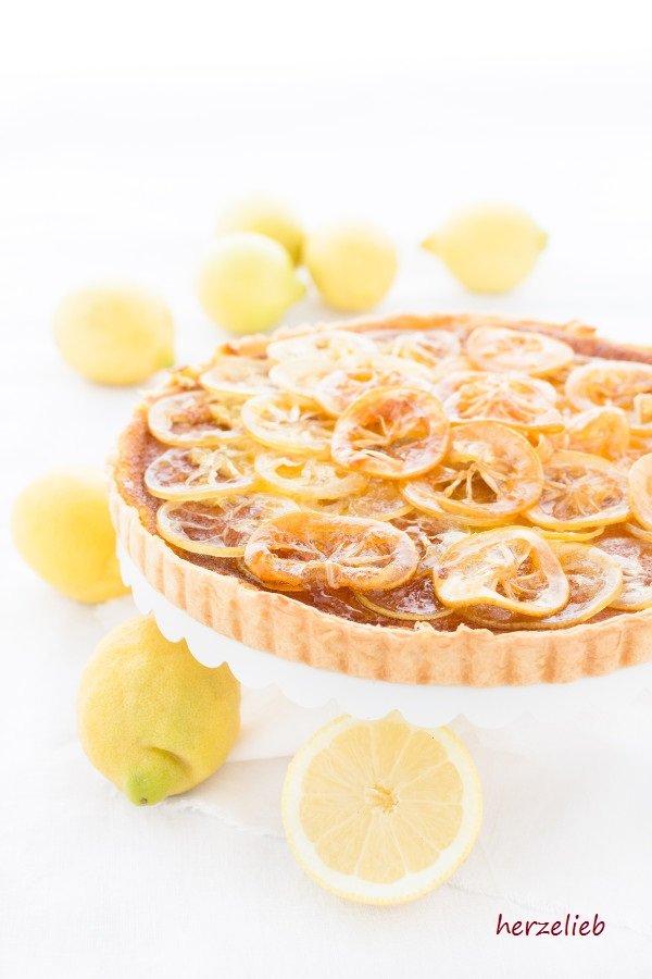 Zitronenkuchen oder Zitronentarte - ein ganz einfaches Rezept von herzelieb
