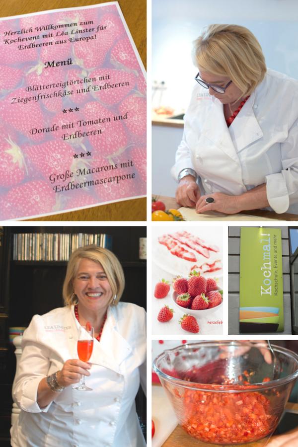 Event mit Lea Linster für Erdbeeren aus Europa in Berlin