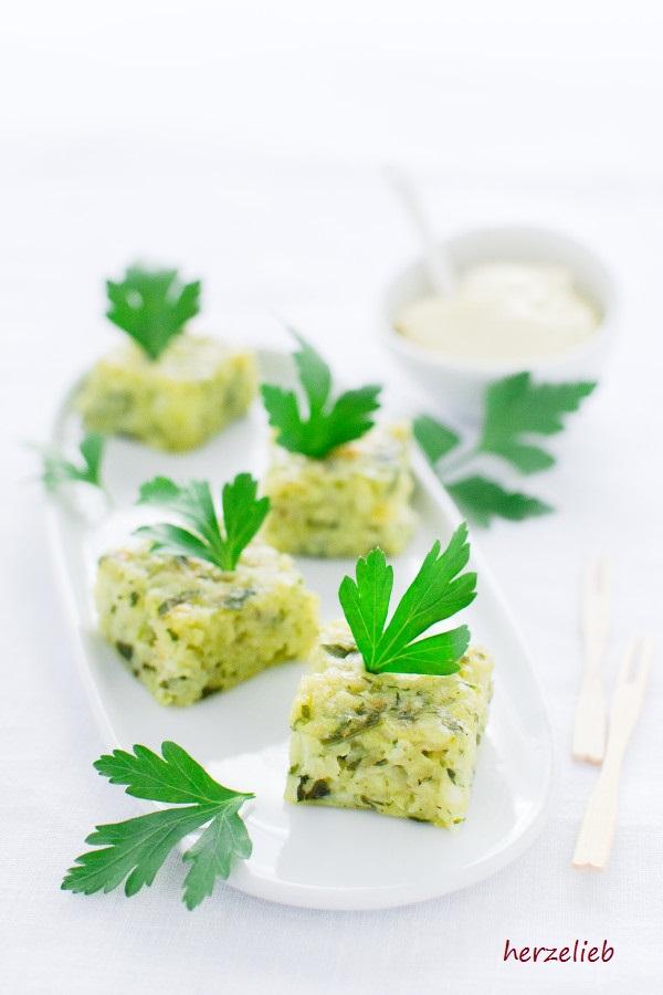 Fingerfood für die Party oder das Buffet - Kartoffel Kohlrabi Happen