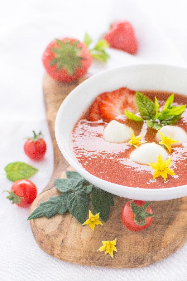 Tomaten-Erdbeersuppe Rezept herzelieb
