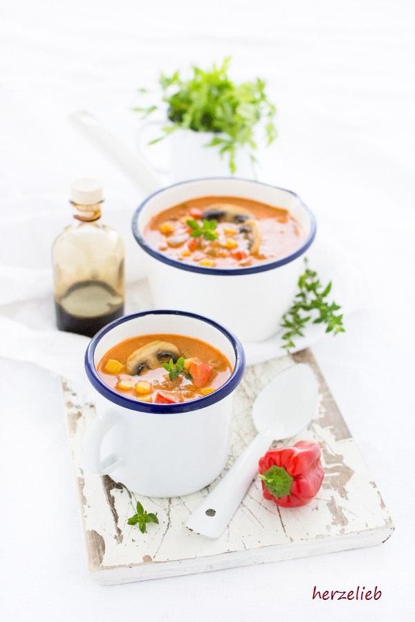 Pizzasuppe - die geniale Suppe für die Party