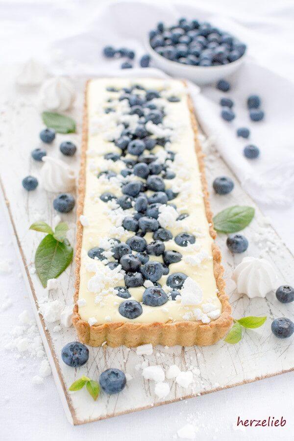 rezept f r eine d nische zitronen tarte mit blaubeeren. Black Bedroom Furniture Sets. Home Design Ideas