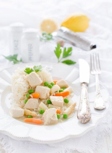 Hühnerfrikassee Rezept mit Spargel - einfach göttlich und von herzelieb
