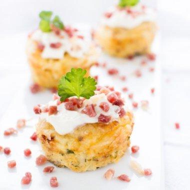 Kartoffelmuffins - Fingerfood Rezept nicht nur für Kids von herzelieb