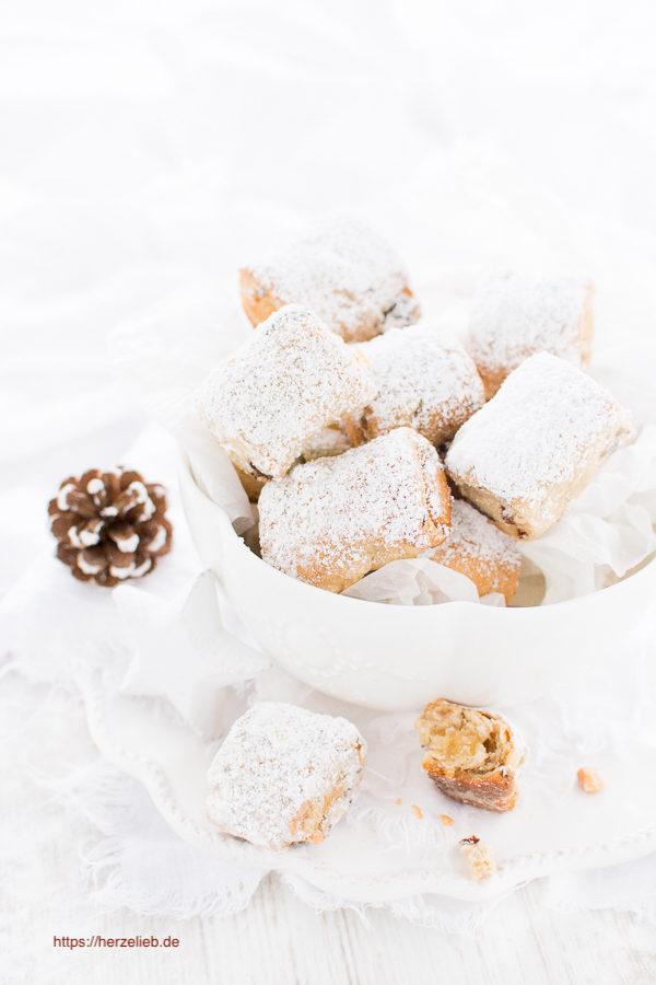 Stollenkonfekt - weihnachtliches Fingerfood - Rezept von herzelieb