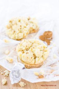 Genau eine Portion! Rezept für Apfelkuchen Kekse von herzelieb