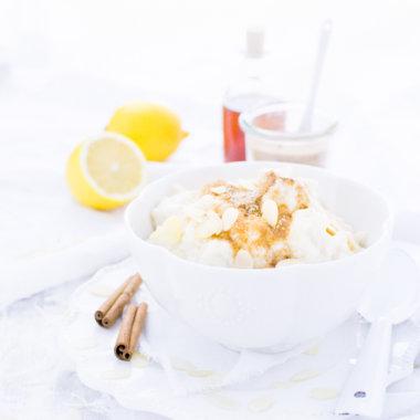 Marzipan Milchreis aus dem Backofen - Rezept von herzelieb