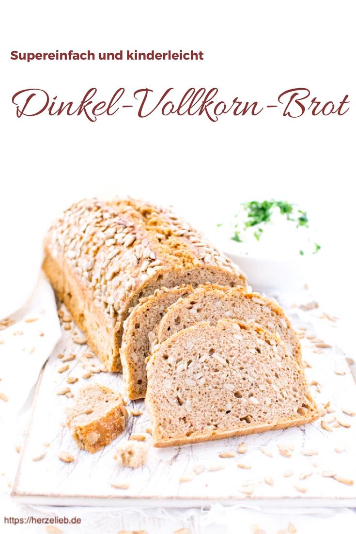 Rezept für ein kerniges und saftiges Vollkorn-Dinkel-Brot ohne großen Aufwand.