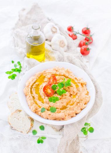Rezept für einen Feta-Tomaten-Dip von herzelieb