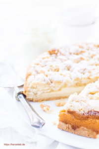 Geburtstag, Kommunion oder Konfirmation - Rezept für Apfelkuchen, der zwei Tage vorher gebacken wird.