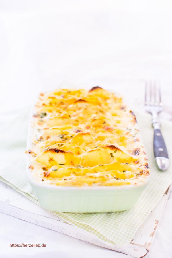 Kartoffelauflauf überbacken mit Käse